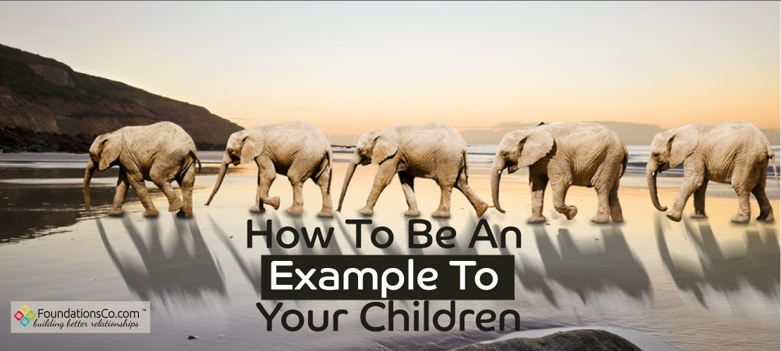 Example to Children - Elephants in a row