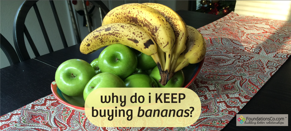 Bunch of Bananas on Table - Why Do I keep buying them?