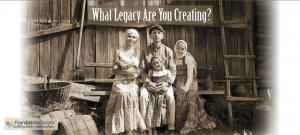 What Legacy Are You Creating - Vintage picture of family