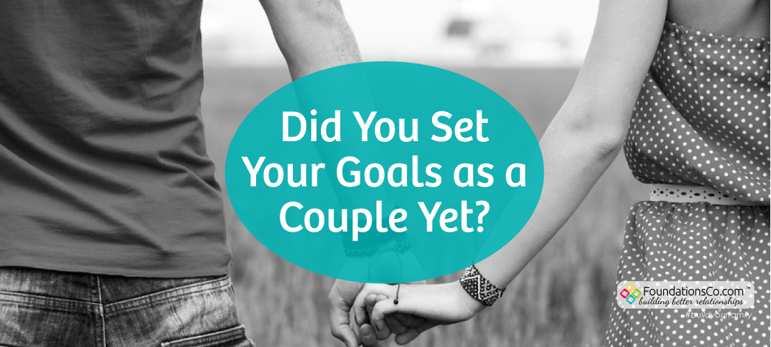 Set your goals as a couple
