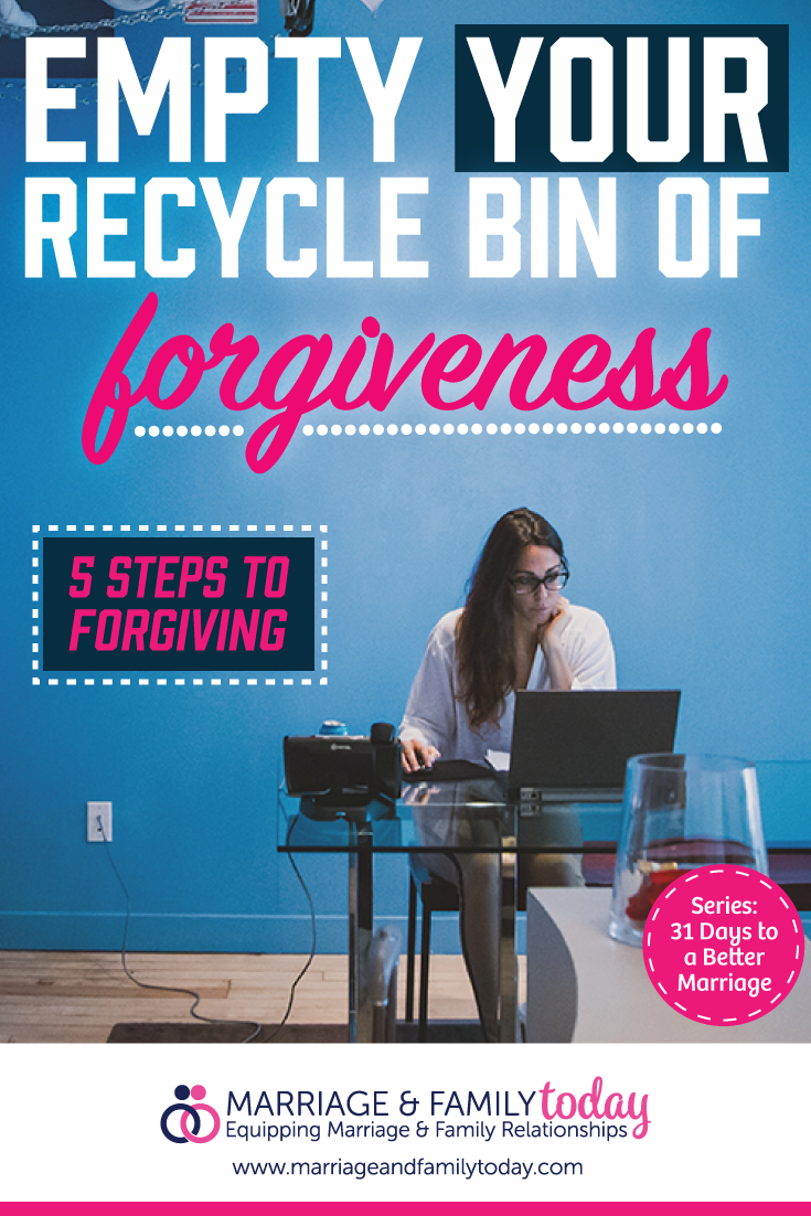 Empty Your Recycle Bin of Forgiveness