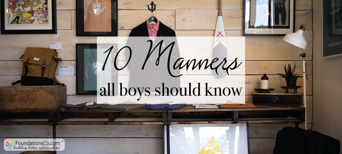 10 Manners All Boys Should Know